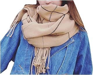 VITryst Women's Plaid Wrap Poncho Macrame Pashmina Warm Comfortable Scarf