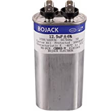 BOJACK 12.5 uF ±6% 12.5 MFD 370V/440V CBB65 Oval Run Start Capacitor for AC Motor Run or Fan Start and Cool or Heat Pump Air Conditione