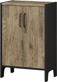 白井産業 キャビネット ブラウン ブラック 約幅59 奥行36 高さ89 cm  ビエンテージ VNT-9060D