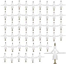 AvoDovA Gipsplaatpluggen, gipskartonpluggen en schroeven, 50 stuks kunststof expansiebuis met schroeven voor gipsplaat, ho...
