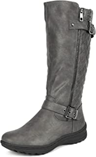 DREAM PAIRS Women's Fur Lined Flat Winter Snow Boots
