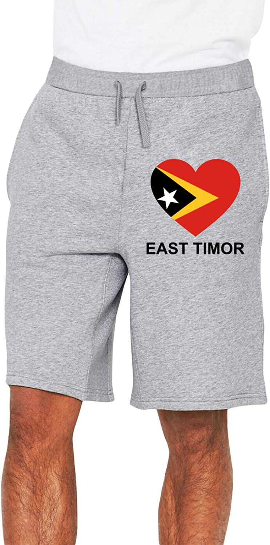Love East_Timor Men's Casual Trouser San Cheap sale Antonio Mall Waist Shorts Elastic Drawst