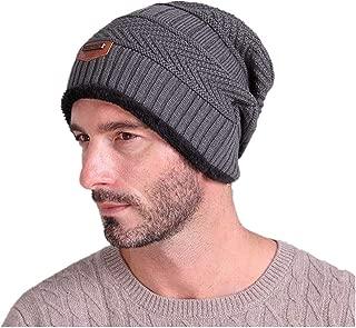 Men Women Soft Lined Thick Wool Knit Skull Cap Warm Winter Slouchy Beanies Hat