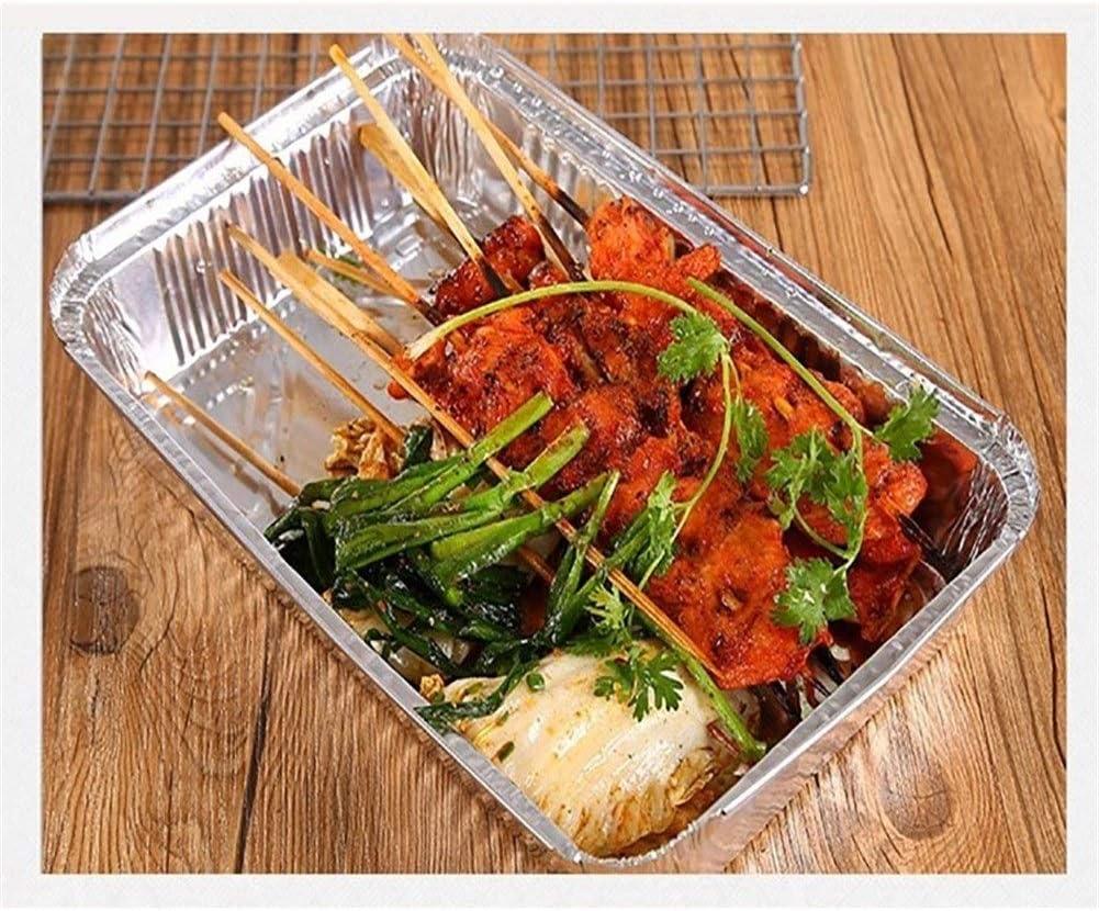 WeiCYN Jetable Barbecue Drip poêle Anti-adhésive en Feuille d'aluminium Boîte résistant à la Chaleur Plateau Tin BBQ extérieur Accessoires Barbecue Accueil (Color : 50pcs) 50pcs