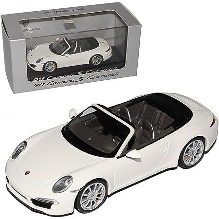 Minichamps Porsche 911 991 Cabrio Carrera S Weiss Ab 2012 1 43 Modell Auto Mit Individiuellem Wunschkennzeichen Spielzeug