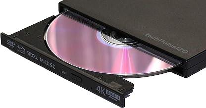 techPulse120 UHD externe 4k 3D M-Disc BDXL USB 3.0 Lecteur Blu-ray Graveur Superdrive..