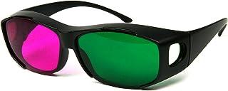 Oversize Ana-Pro(TM) Green/Magenta 3D Glasses - 3 Pairs