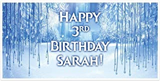 Frozen Personalized Birthday Banner Party Decoration