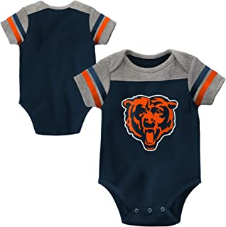 Paw Prints Chicago Flag Long Sleeve Infant Baby Unisex Baby Bodysuit for 6-24 Months Bodysuit