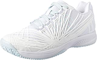 WILSON Women's KAOS 2.0 All Court Tennis Shoe Women's Tennis Shoe, Wht/wht/Blue