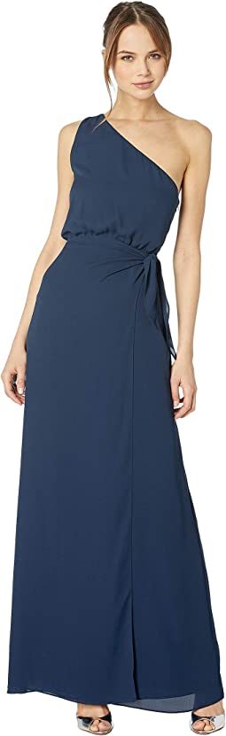 The Penny One Shoulder Wrap Front Gown