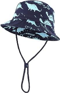 Home Prefer Toddler Boy Kids Sun Hat Cotton Bucket Hat Cute Dinosaur Fishing Hat