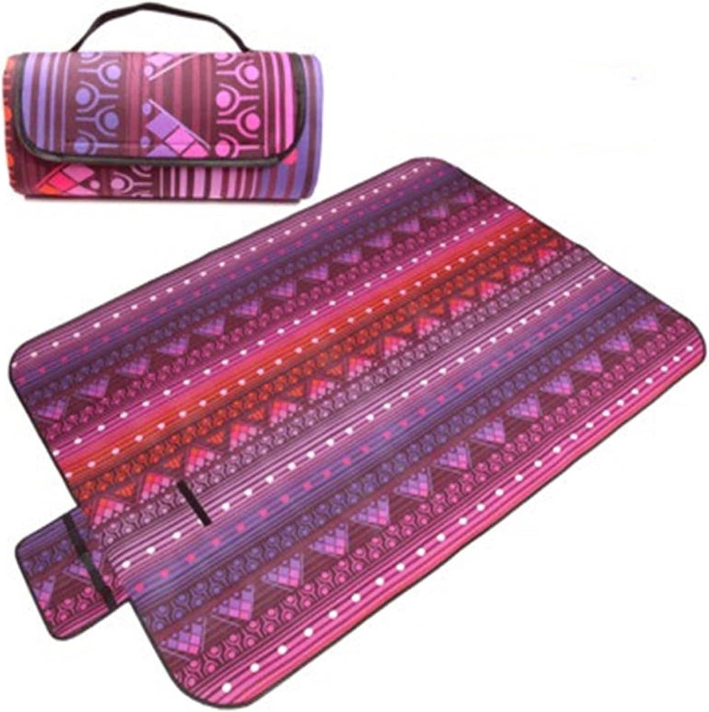 yangmeng Latest item 4 Sizes Price reduction of Retro Printed Outdoor Mats Picnic Folding B