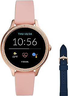 Fossil Damen Touchscreen Smartwatch 5E. Generation mit Lautsprecher, Herzfrequenz, GPS, NFC und Smartphone Benachrichtigun...
