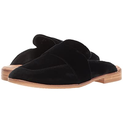 Free People At Ease Velvet Loafer (Black) Women