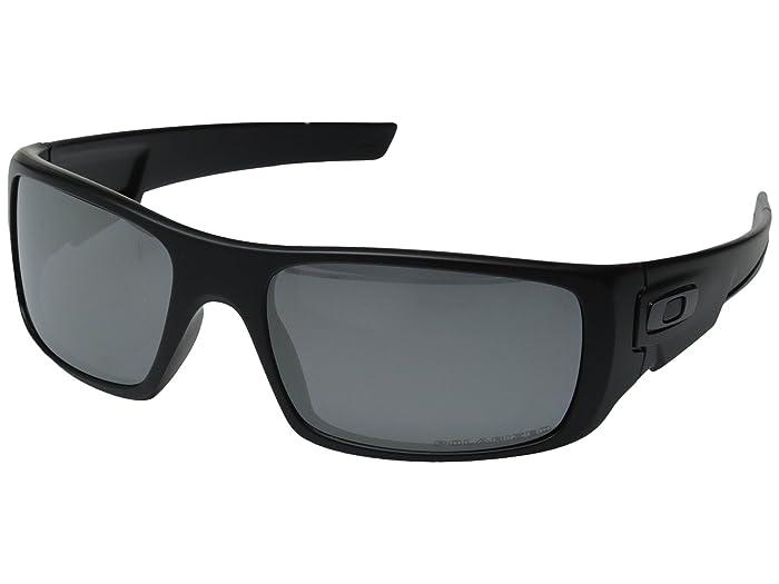Oakley Crankshaft (Black Iridium Polarized w/ Matte Black) Fashion Sunglasses