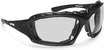BERTONI Lunettes Sport Coupe Vent avec Clip pour Verres Correcteurs Masque Anti buée pour Moto Ski Skydiving Sport Extrêmes AF79 Italy