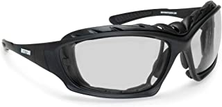 Bertoni Motorcycle Goggles Padded Glasses Interchangeable Arms and Strap - Antifog Lens - Optical Prescription Carrier Included - AF366A by Bertoni Italy Riding Goggles - Black