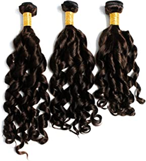 Spiral Curl Wave 8A 3 Bundles Deal Real Virgin Raw Human Hair Unprocessed Weave Double Weft Natural Color (20 22 24 Inch)