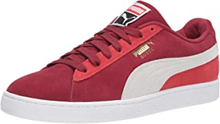 PUMA Womens Unisex-Adult Suede Classic Red Size: