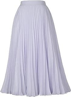 Women's High Waist Pleated A-Line Swing Skirt KK659