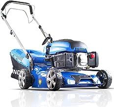 Hyundai 43cm OHV 4-Stroke 139cc Petrol Lawn Mower, Self Propelled Petrol lawn Mower, 3 Year Warranty, Quick Release 45L Gr...
