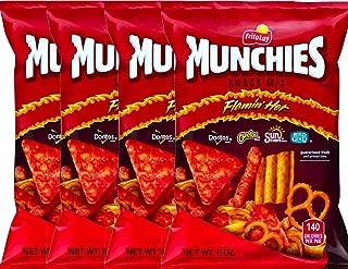 NEW Munchies Flaming' Hot Snack Mix Doritos, Cheetos, Sun Chips, Rold Gold Net Wt 8 Oz. (4)