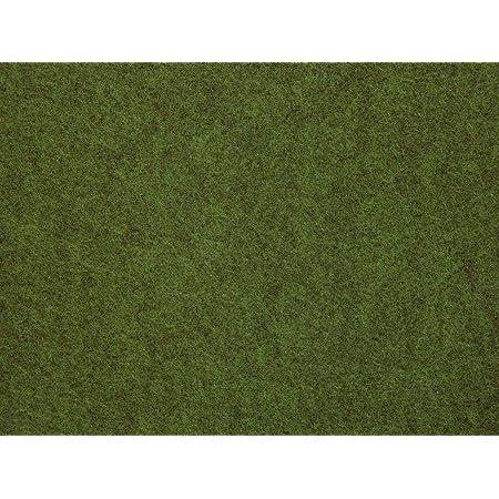 gr/ün misento Rasenteppich Easy Kunstrasen strapazierf/ähig robust mit Drainage Noppen braun 133 x 400 cm