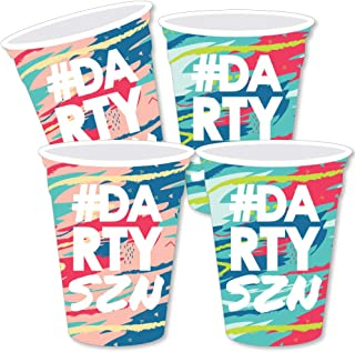 Big Dot of Happiness Darty Szn - Party Cup Decorations DIY Day Drinking Party Season Essentials - Set of 20
