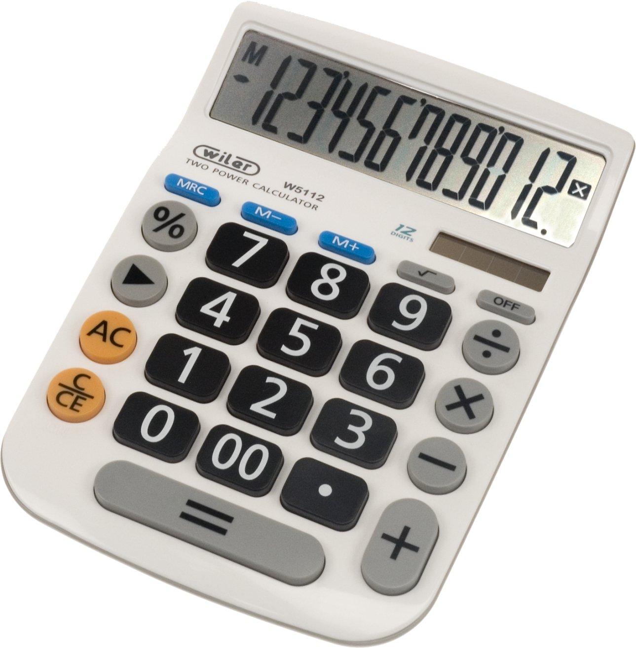 wiler W5112 Calculadora de mesa: Amazon.es: Oficina y papelería