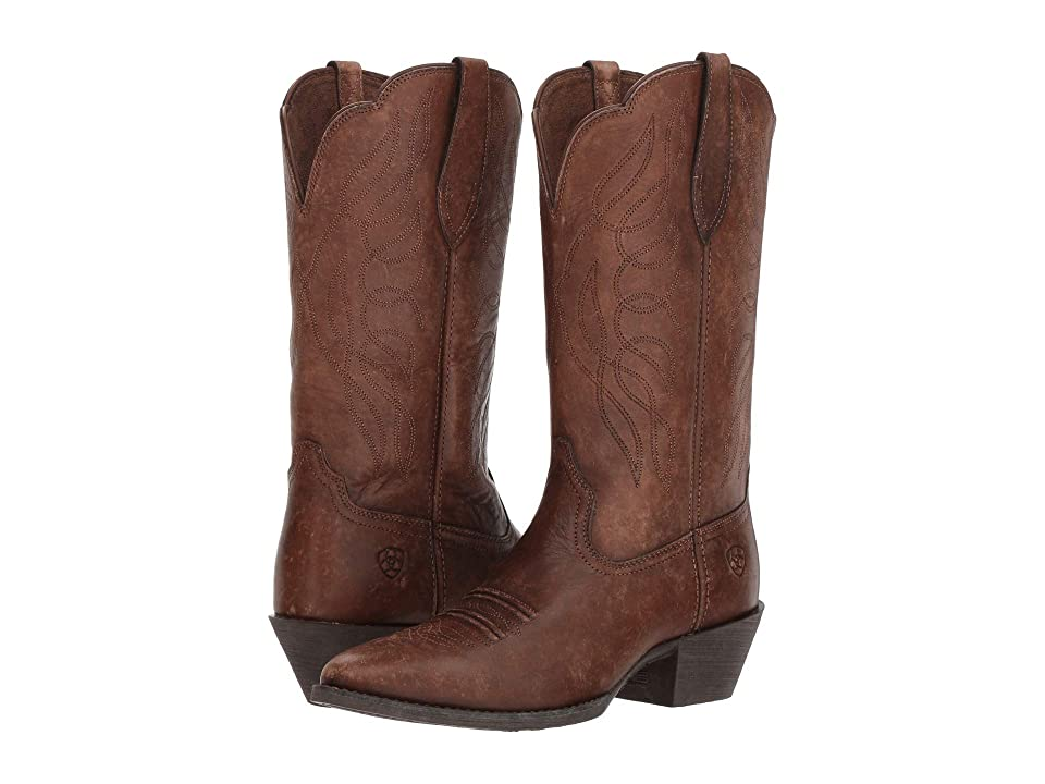 Ariat Heritage Western R Toe (Naturally Distressed Brown) Women