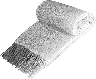ART & ARTIFACT Fringe Throw Blanket - Chunky Knit Decorative Warm Acrylic Afghan - 50