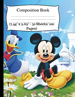 Composition Book: Cute Mickey Notebook, Wide Ruled Notebook for Kids, Cute Notebooks for School, Small Composition Notebook Wide Ruled, One Subject ... - 50 Sheets/ 100 Pages). Wide Ruled journal