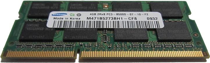 Samsung 4GB PC3-8500 DDR3-1066MHz non-ECC Unbuffered CL7 204-Pin SoDimm Original Memory Module Mfr P/N M471B5273BH1-CF8