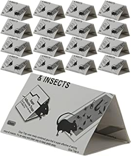 SteadMax Mouse Trap Glue Board, 16 Pack Strong Adhesive Super Sticky Rat Traps, Effective Rodent Traps, Odorless and Poison Free, Safe for Children and Home Pets (16 Pack)