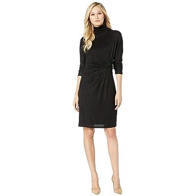 NIC+ZOE Every Occasion Mock Twist Dress (Black Onyx) Women