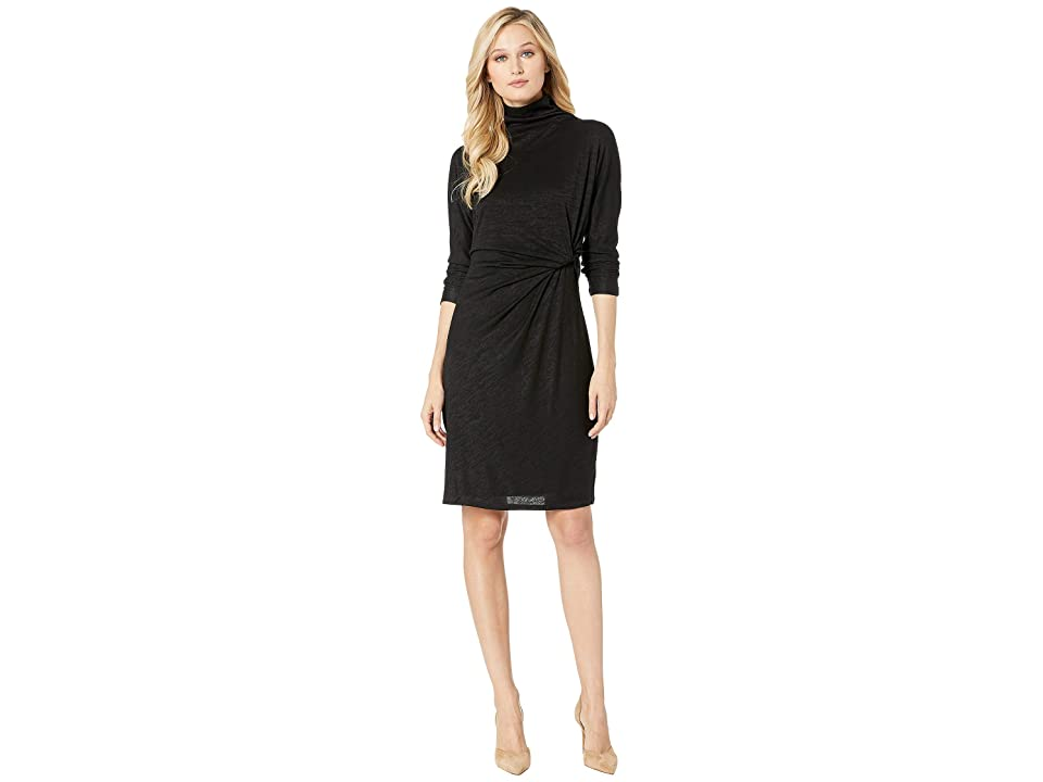 NIC+ZOE Every Occasion Mock Twist Dress (Black Onyx) Women