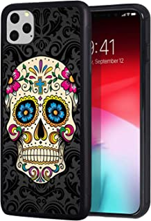 iPhone 11 Pro Max Case, BWOOLL Slim Anti-Scratch Rubber Protective Cover for Apple iPhone 11 Pro Max 6.5 inch (2019) - Sugar Skull