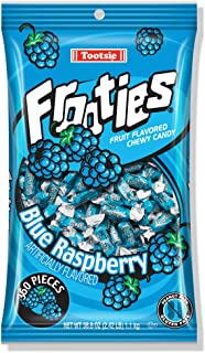 Blue Raspberry Frooties - Tootsie Roll Chewy Candy, Great for Halloween! - 360 Piece Count, 38.8 oz Bag