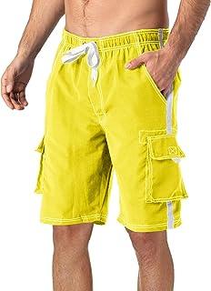 TACVASEN Mens Quick Dry Swim Trunks Beach Surf Shorts with Mesh Lining