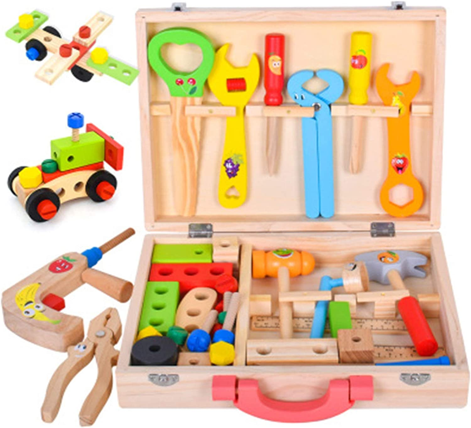 Toy Wooden Sales for sale Tool Set 3+ — Gift Children Great Genuine Kit –