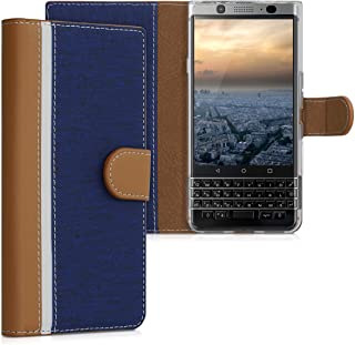 kwmobile Wallet Case for BlackBerry KEYone (Key1) - Protective PU Leather Flip Cover with Magnetic Closure, Card Slots and Kickstand
