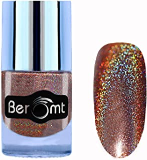 Beromt Holographic Nail Polish | Holo Shining Lacquer Nail Varnish | Hologram Effect Nail Art, Dark Purple, 506, 10 ml