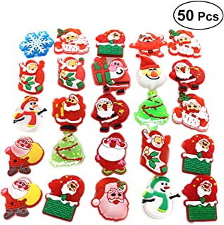 Toyvian 50 STÜCKE Weihnachten Flashing Brosche Pins LED Brosche Kinder Party Supplies (Stil Gemischt)
