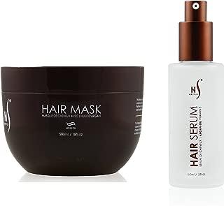 Hair Mask And Argan Oil Hair Serum Set - Deep Conditioning Mask For Soft Hair Texture - Hair Mask Serum For Frizzy Hair - Argan Oil Mask From Herstyler - Hair Care Set