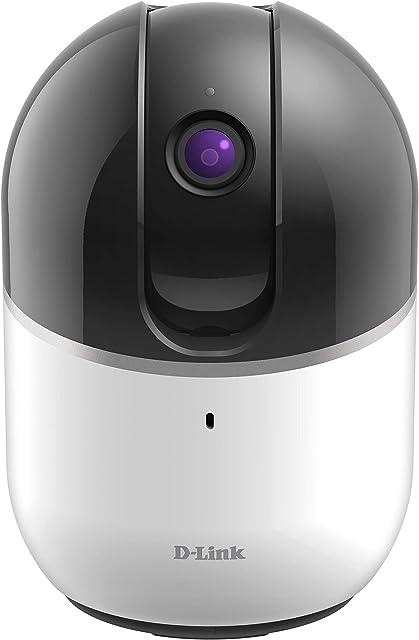 D-Link DCS-8515LH - Cámara WiFi HD con motor con seguimiento de personas u objetos en movimiento rotación horizontal 340° vertical 105° 720p infrarrojos compatible Alexa Google Home e IFTTT