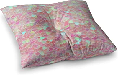 Kess InHouse Debbra Obertanec Queen White Flower 23 x 23 Square Floor Pillow