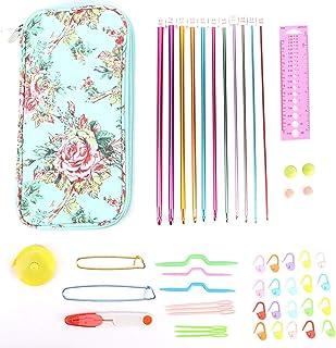 Crochet Hooks Kit, Crochet Hooks Set with Case Knitting Needles Sewing Tools Full Set with Cap DIY Hand Knitting Art Tools...