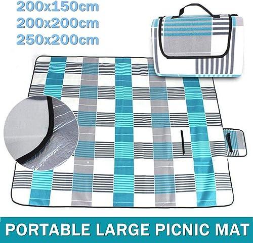 ZHAOLV Flanelle Imperméable Pliant Pique-Nique Tapis Camping en Plein Air Plage étanche à L'humidité Couverture portable Tapis De Camping Randonnée Plage Pad (Taille   200x200cm)