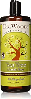 Dr. Woods Pure Tea Tree Liquid Castile Soap with Organic Shea Butter, 32 Ounce